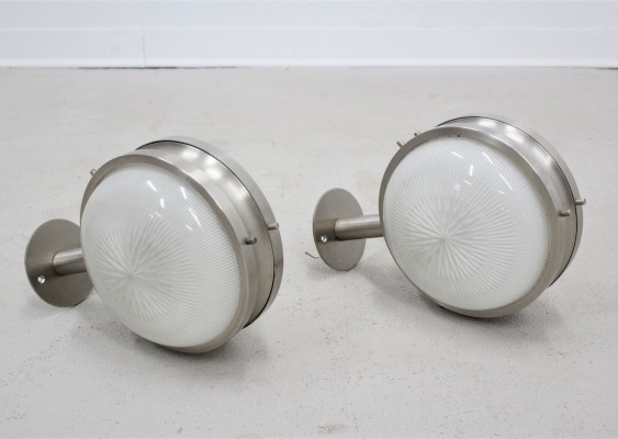 Set of 2 Gamma wall lights Sergio Mazza for Artemide, 1960s