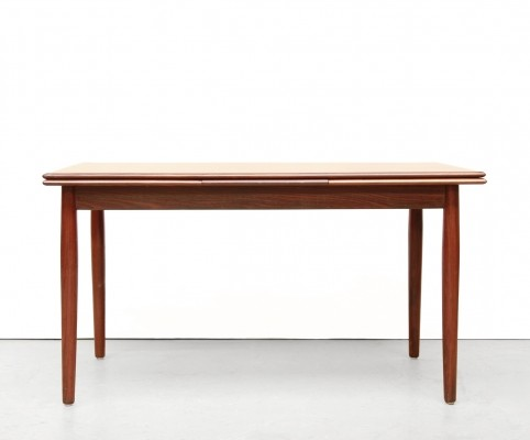 Extendable Danish design teak dining room table