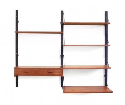 Teak Danish design wall system, 1960s