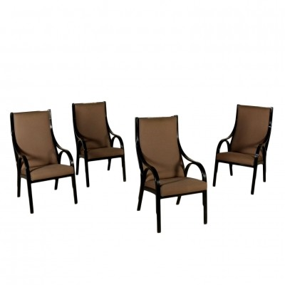 Set of 4 Cavour dinner chairs by Giotto Stoppino for Sim, 1980s