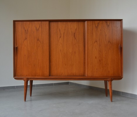 Teak highboard by Gunni Omann for Omann Jun, Denmark 1960's