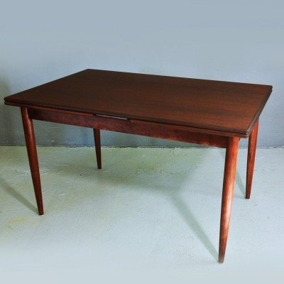 Extendable Rosewood dining table, 1960s