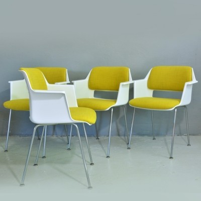 Set of 4 model 2225 arm chairs by André Cordemeyer for Gispen, 1960s