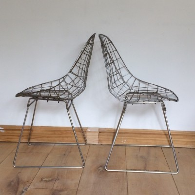 Pair of MS05 dining chairs by Cees Braakman for Pastoe, 1950s