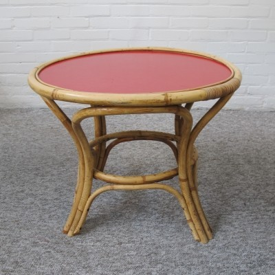 Rattan table by Rohé Noordwolde, 1950s