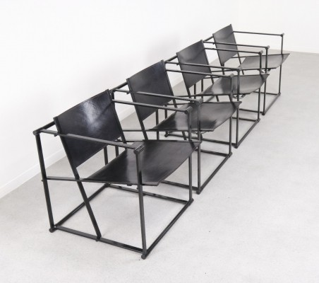 4 x FM62 lounge chair by Radboud van Beekum for Pastoe, 1980s