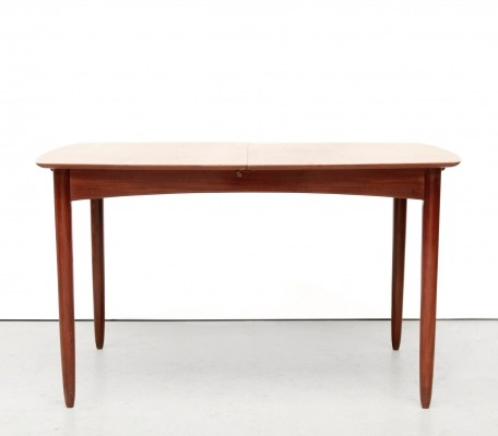Vintage teak extendable dining room table, 1960s