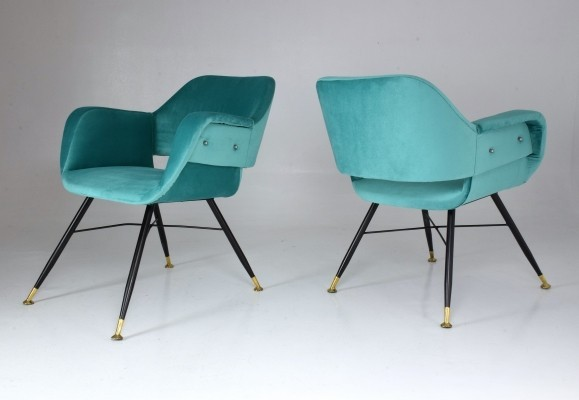 Pair of Italian Midcentury Armchairs, 1950s