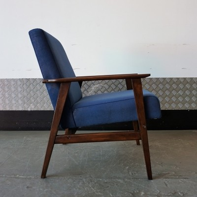 Navy Blue Mid Century Easy Chair, 1970s