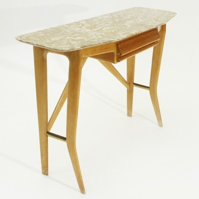 Italian mid-century console with marble top by Cicchetti, 1950s