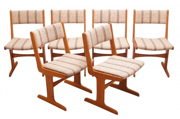 Set of 6 Scandinavian Modern Dining Chairs by Farso Stolefabrik
