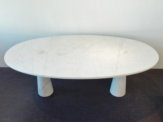 Large Eros series dining table by Angelo Mangiarotti, Italy 1970s