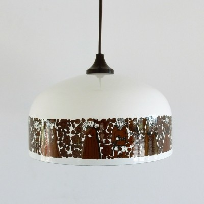 Enameled pendant by Kaj Franck for Fog & Mørup, 1970's