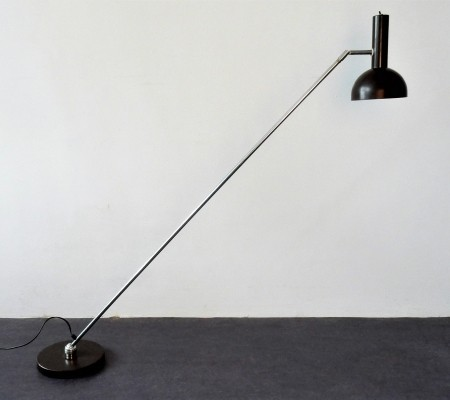 'Ball in socket' floor lamp by H. Busquet for Hala Zeist, 1970's