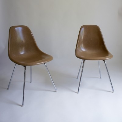 A Pair Of Eames DSX Fiberglass Chairs