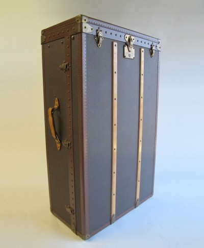 Unique custom-made wardrobe trunk by Louis Vuitton, 1980s