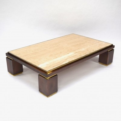 Travertine coffee table by Belgo Chrom