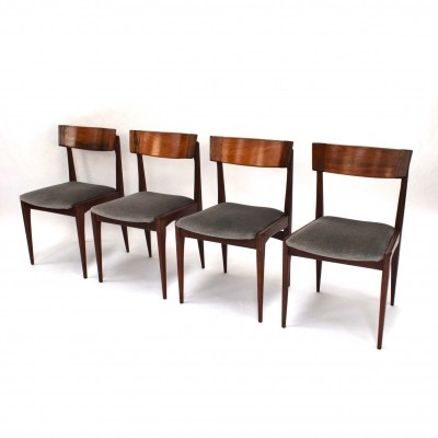 Set of 4 Brazilian rosewood dining chairs