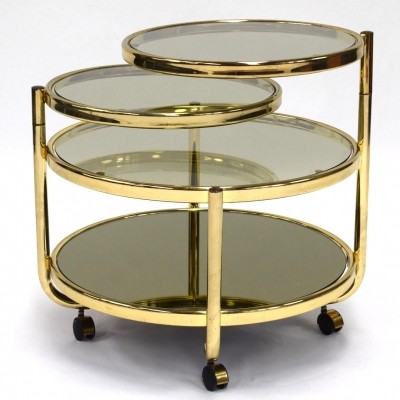 Brass coffee table in hollywood regency style