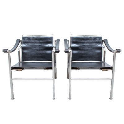 Pair of LC-1 Chairs by Le Corbusier