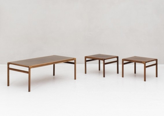 Coffee table with side tables by Soren Willadsen, Denmark 1960