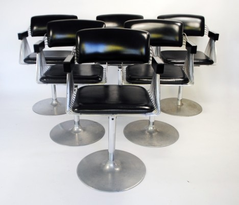 Set of 6 Delta dinner chairs by Rudi Verelst for Novalux, 1970s