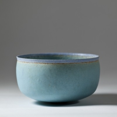 Unique Stoneware Bowl by Alev Siesbye, 1987