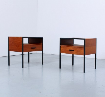 Pair of teak night stands by Auping, 1960s