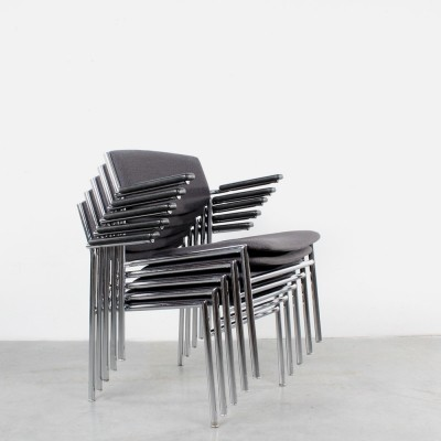 Set of 5 Gijs van der Sluis arm chairs, 1960s