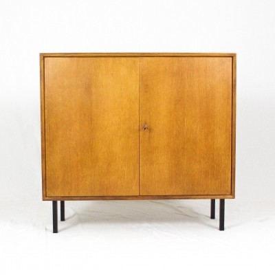 Oak veneer highboard, 1960s