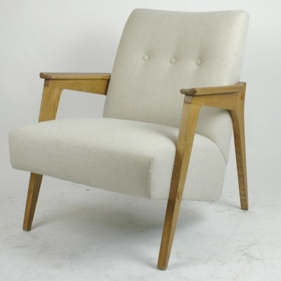 Austrian Midcentury Oak Lounge Chair