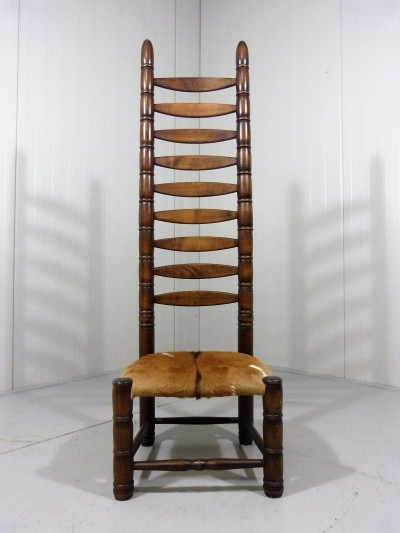 Vintage African Style Throne Chair, 1960's