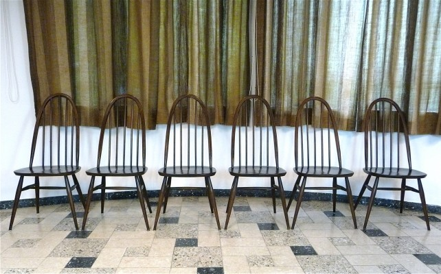 Set of 6 Windsor Quaker Dining Chairs by Lucian Ercolani for Ercol, 1960