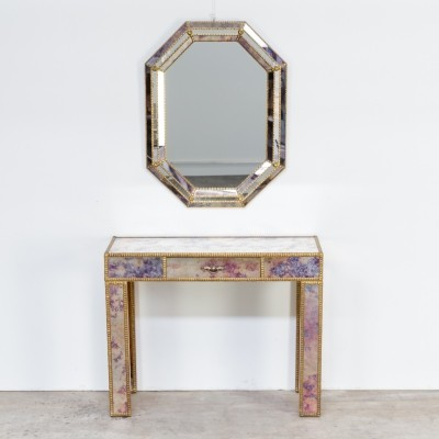 60s Dressing table with mirror in regency style