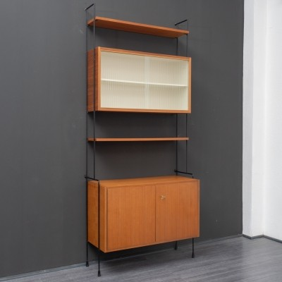 1960s Omnia shelving system with glass doors made by Hilker