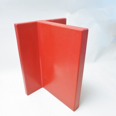 Red plastic shelf by Marcello Siard