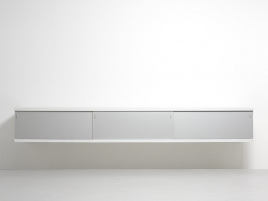 Hanging sideboard in aluminium by Horst Brüning for Behr, 1958