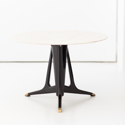 Italian Modern Round Dining Table, 1950s