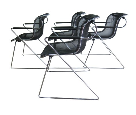 Vintage design 'Penelope' chairs Charles Pollock for Castelli
