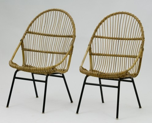 Pair of lounge chairs by Alan Fuchs for ÚĽUV Praha, 1960s