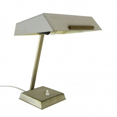 Grey metal desk light, 1960s