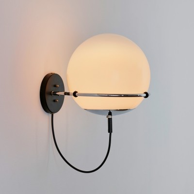 2 x Ochtendnevel wall lamp by Frank Ligtelijn for Raak Amsterdam, 1970s