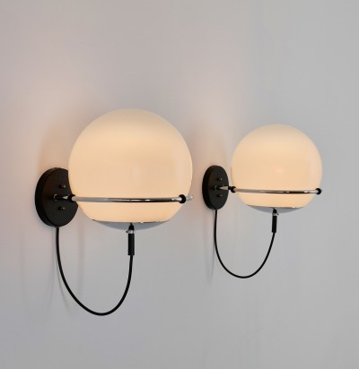 Pair of Ochtendnevel wall lamps by Frank Ligtelijn for Raak Amsterdam, 1970s