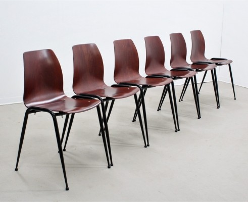 Set of 6 mid century rosewood Pagholz chairs