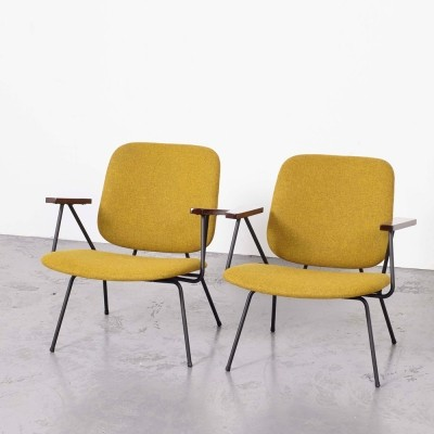 W.H. Gispen Pair of Lounge Chairs for Kembo, 1950s