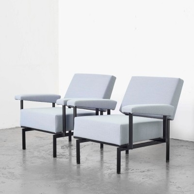 Cees Braakman Pair of 'FM07' Lounge Chairs for Pastoe, 1958