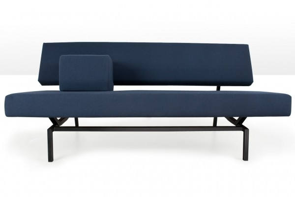 BZ53 Martin Visser sofa in Blue wool, 1960s