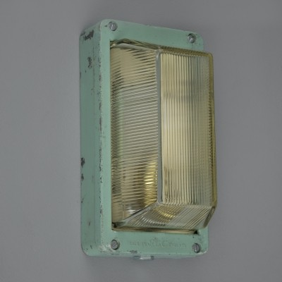 Vintage green wall lights by GEC