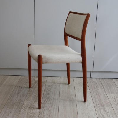 'Model 80' Dining chair in teak by Niels Otto Møller, 1960's