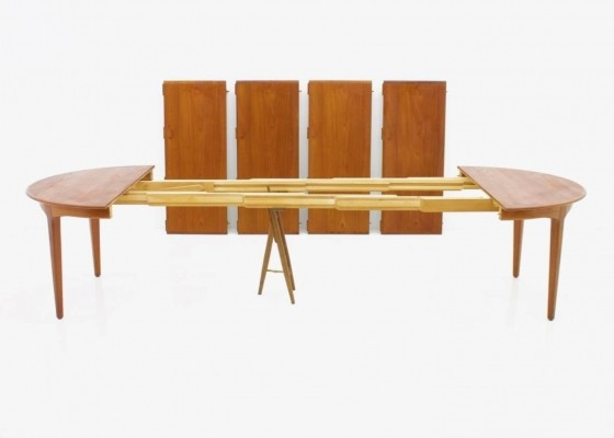 Model 62 Dining Table in Teak by Henning Kjaernulf for Sorø Stolefabrik, Denmark 1958